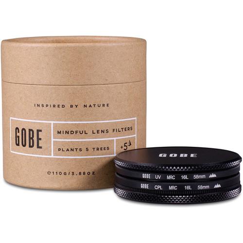 Gobe 58mm The Duet 3Peak UV and Circular Polarizer Filter Kit