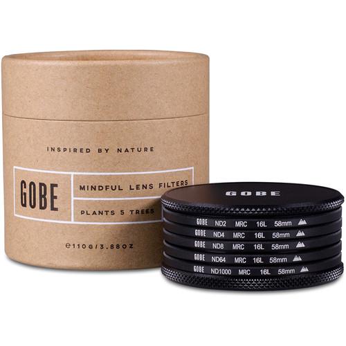 Gobe 58mm ND Family 2Peak ND Filter Kit (1, 2, 3, 6, 10-Stop)