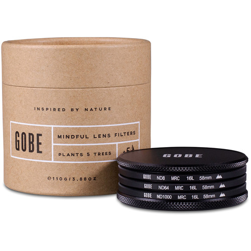 Gobe 58mm ND Stopper 2Peak Solid Neutral Density Filter Kit (3, 6, and 10 Stops)