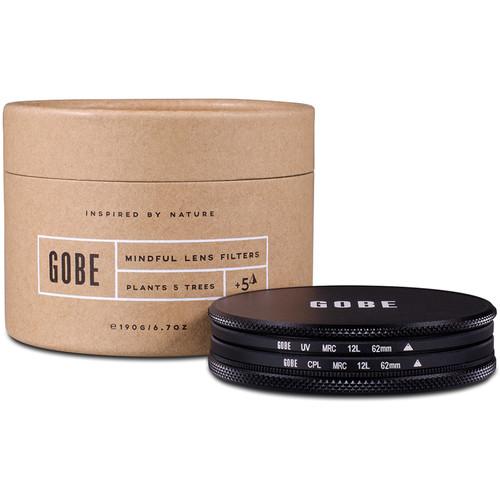 Gobe 62mm The Duet 1Peak UV and Circular Polarizer Filter Kit