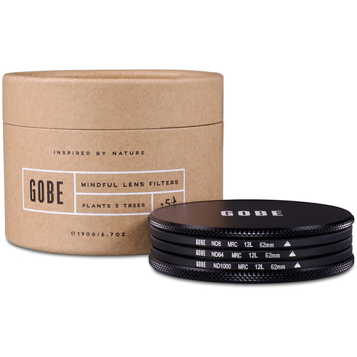 Gobe 62mm ND Stopper 1Peak Solid Neutral Density Filter Kit (3, 6, and 10 Stops)