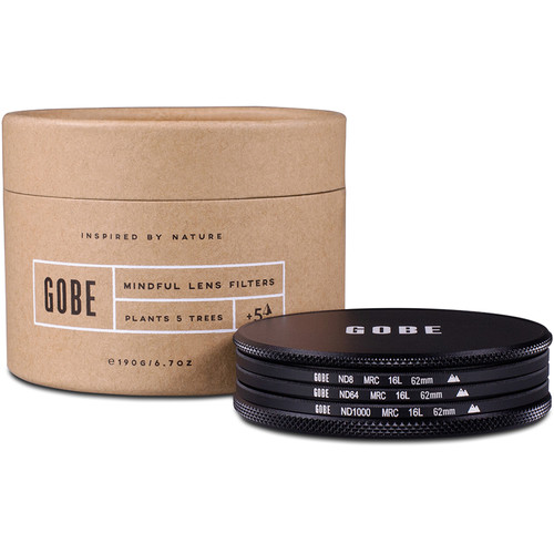 Gobe 62mm ND Stopper 2Peak Solid Neutral Density Filter Kit (3, 6, and 10 Stops)