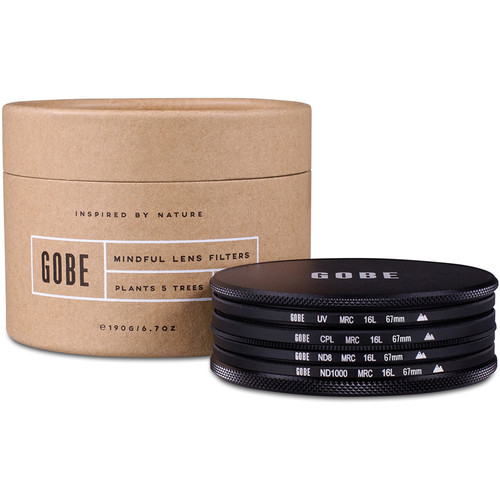 Gobe 67mm Essentials 2Peak UV, Circular Polarizer, ND8, and ND1000 Filter Kit