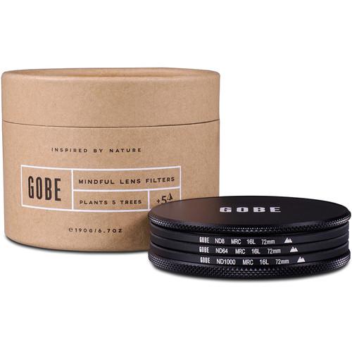 Gobe 72mm ND Stopper 2Peak Solid Neutral Density Filter Kit (3, 6, and 10 Stops)