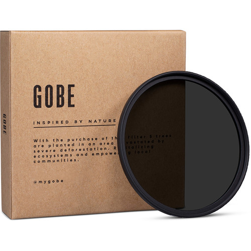Gobe 62mm ND8 2Peak Solid Neutral Density 0.9 Filter (3 Stops)