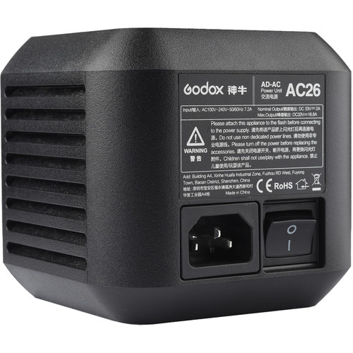 Godox AC Adapter for AD600Pro Witstro Outdoor Flash