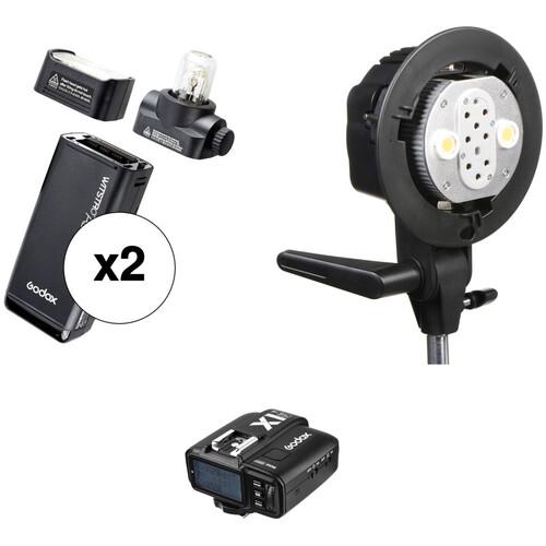 Godox AD200 TTL Pocket Dual Flash Kit with X1T-F Trigger for Fujifilm Cameras