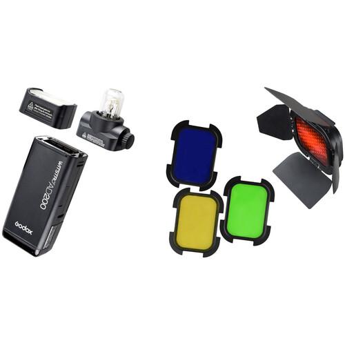 Godox AD200 TTL Pocket Flash with Barndoor Kit