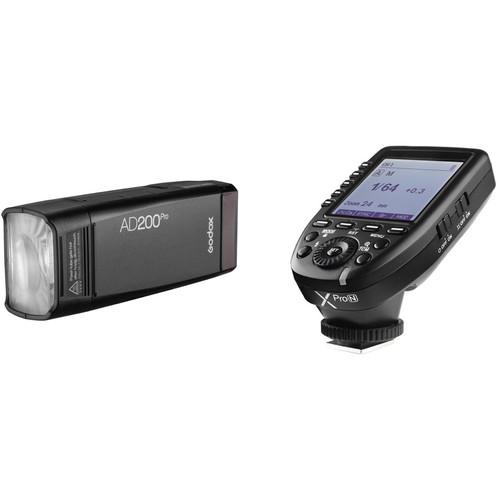 Godox AD200Pro Pocket Flash with XProN Trigger Kit for Nikon