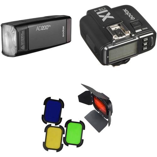 Godox AD200Pro TTL Pocket Flash Kit with Canon Trigger and Barndoors