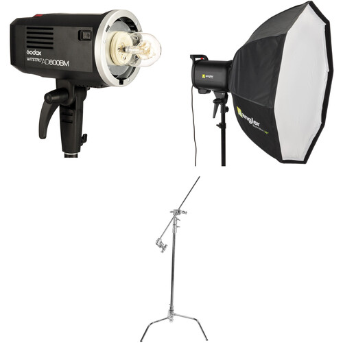Godox AD600BM Witstro Monolight Kit with Softbox and C-Stand