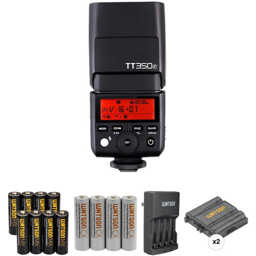 Godox TT350C Mini Thinklite Flash with Accessories Kit for Fujifilm Cameras