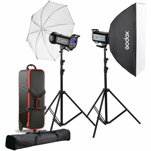 Godox QS400II 2-Light Studio Flash Kit
