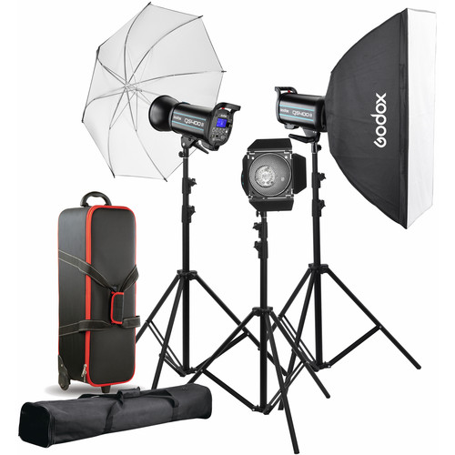 Godox Studio Lighting Kit Bag: Godox QS400II 3-Light Studio Flash Kit QS400II-D B&H Photo
