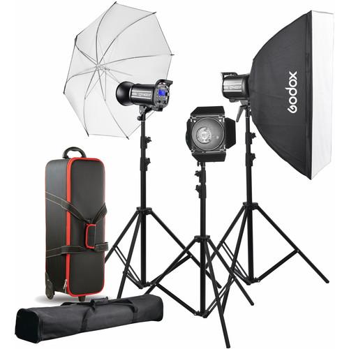 Godox QT400II 3-Light Studio Flash Kit