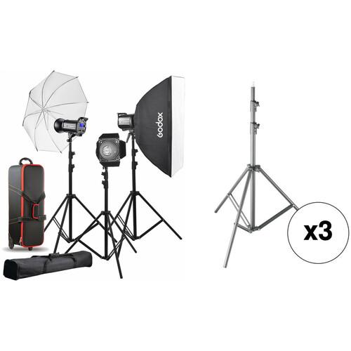 Godox QT600II 3-Light Studio Flash Kit