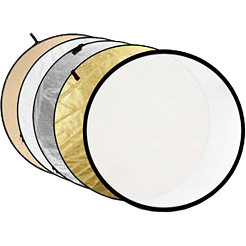 """Godox Collapsible 5-In-1 Reflector Disc (24"""", Gold/Silver/Soft Gold/White/Translucent)"""