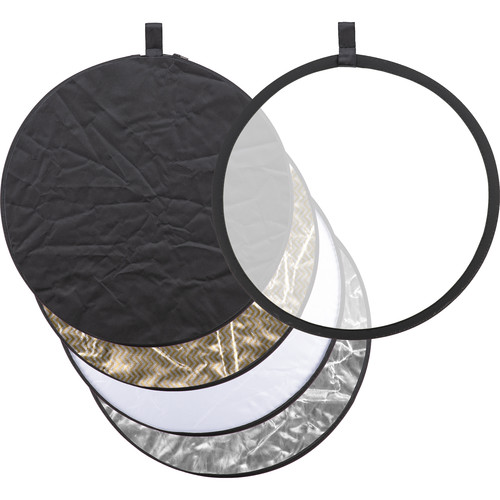 "Godox Collapsible 5-In-1 Reflector Disc (24"", Black/Silver/Soft Gold & Silver/White/Translucent)"