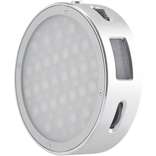 Godox Round Mini RGB LED Magnetic Light (Silver)