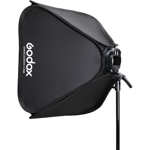"Godox S2 Bowens Mount Bracket with Softbox, Grid & Carrying Bag Kit (23.6 x 23.6"")"