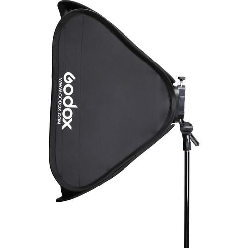 "Godox S2 Speedlite Bracket with Softbox, Grid & Carrying Bag Kit (31.5 x 31.5"")"