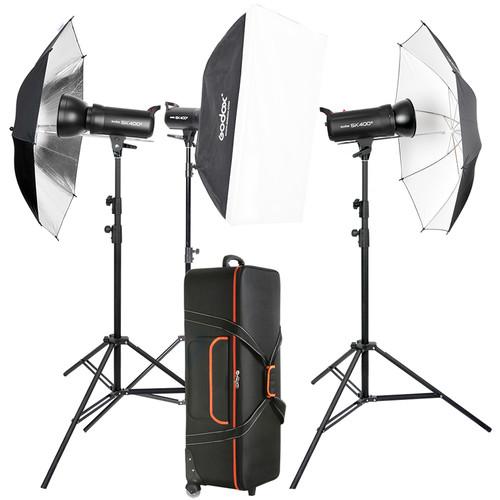 Godox SK400II 3-Light Studio Flash Kit