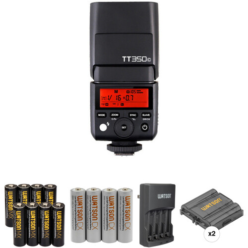 Godox TT350C Mini Thinklite Flash with Accessories Kit for Canon Cameras