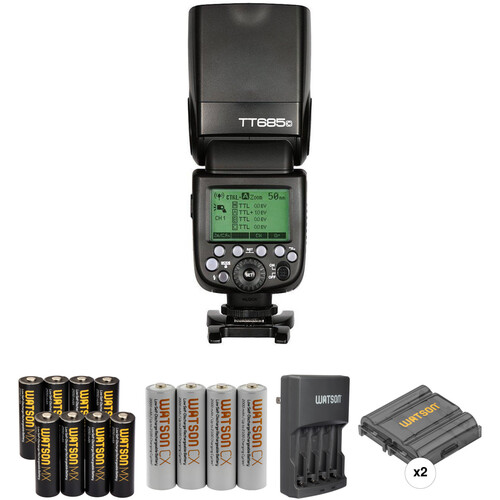 Godox TT685C Thinklite TTL Flash with Accessories Kit for Canon Cameras