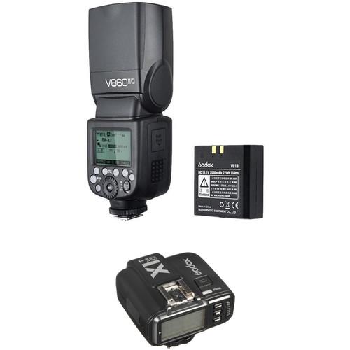 Godox VING V860IIC TTL Li-Ion Flash with X1T-C TTL Trigger Kit for Canon Cameras