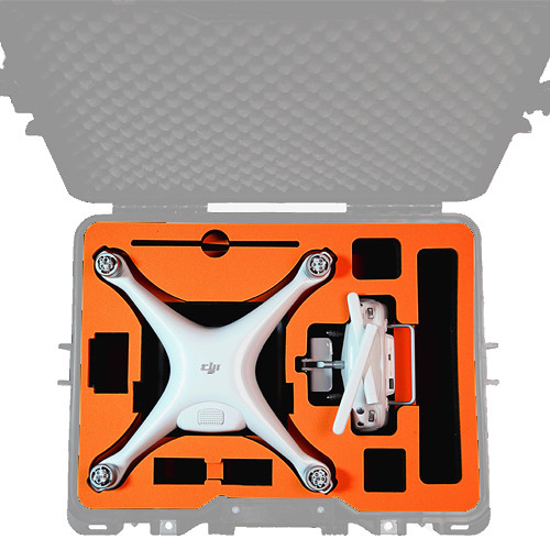 GoGORIL Foam Insert for DJI Phantom 4/Pro Drone (Orange)