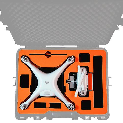 GoGORIL Foam Insert for DJI Phantom 4 / Pro Drone (Orange)