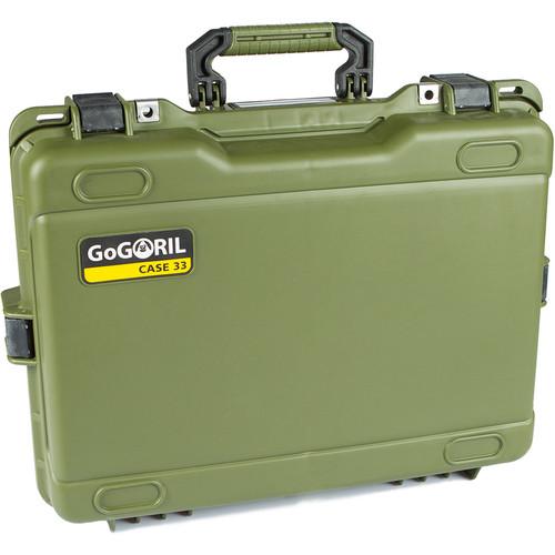 GoGORIL G33 Hard Case (No Foam, Green)