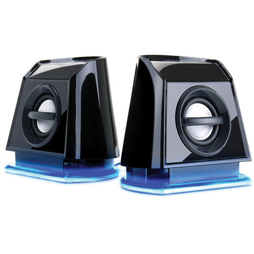GOgroove BassPULSE 2MX USB Powered 2.0 Channel Computer Speakers (Blue/Black)
