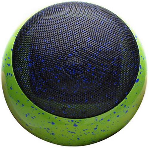 GOgroove BlueSYNC OR3 Wireless Portable Speaker (Green Paint-Splatter Design)