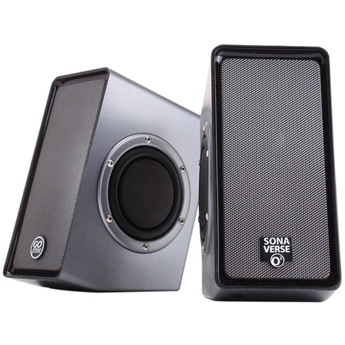GOgroove SonaVERSE 02 USB-Powered Speakers with Dual Side-Firing Passive Woofers