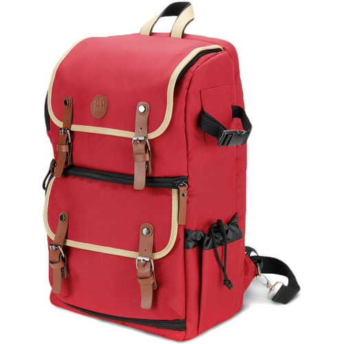 GOgroove DSLR Camera Backpack (Red)