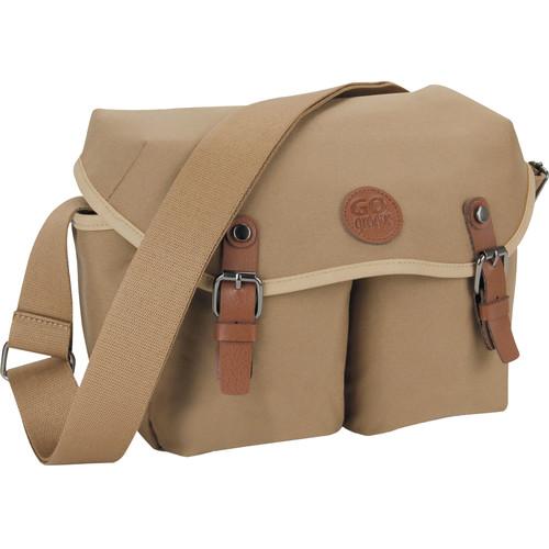 GOgroove DSLR Messenger Style Camera Bag (Tan)