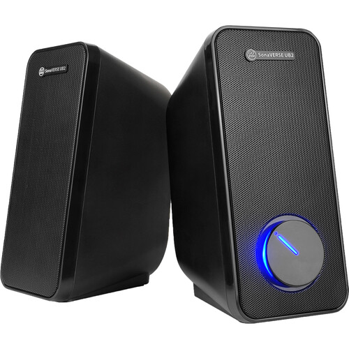 GOgroove 2-Way Multimedia USB Powered PC Speakers for Desktops and  Laptops (Black)
