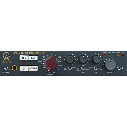 Golden Age Project PREQ-73 PREMIER Single-Channel Microphone Preamplifier and Equalizer