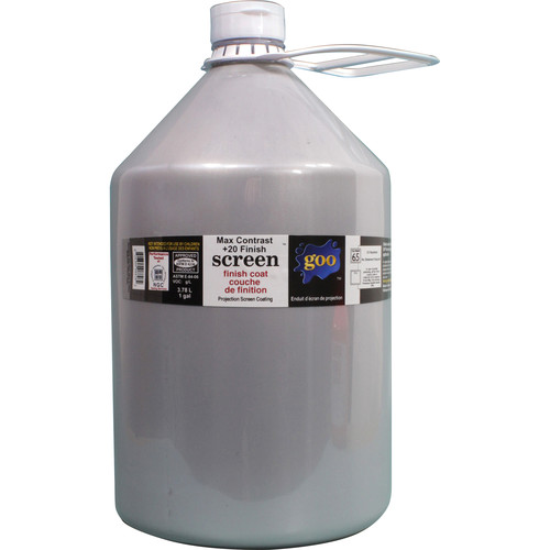 Goo Systems Max Contrast +20 Finish Coat Screen Goo (1 Gal Bottle)