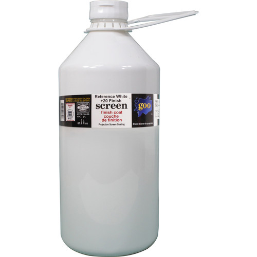 Goo Systems Reference White +20 Finish Coat Screen Goo (0.5 Gal Bottle)
