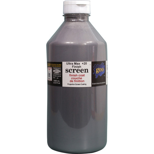 Goo Systems Ultra Max Contrast +20 Finish Coat Screen Goo (0.26 Gal Bottle)