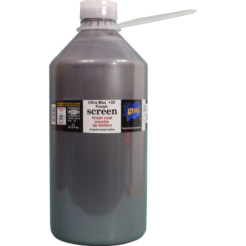 Goo Systems Ultra Max Contrast +20 Finish Coat Screen Goo (0.5 Gal Bottle)