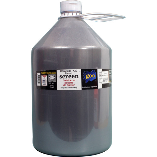 Goo Systems Ultra Max Contrast +20 Finish Coat Screen Goo (1 Gal Bottle)