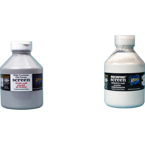 Goo Systems High Contrast +20 Finish Coat with High Contrast Reflective Coat Screen Goo Set (Pair of 16.9 fl.oz Bottles)