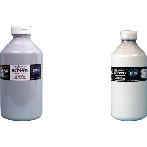 Goo Systems High Contrast +20 Finish Coat with High Contrast Reflective Coat Screen Goo Set (Pair of 0.26 Gal Bottles)