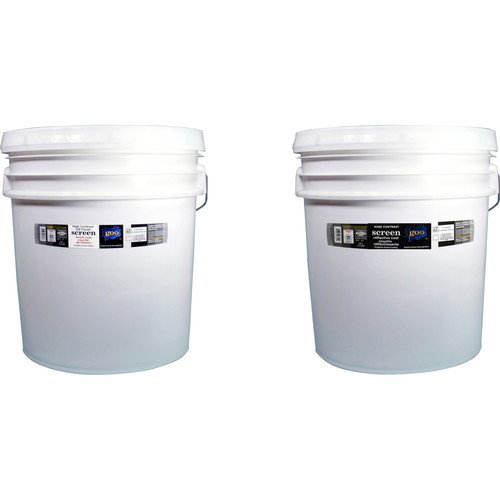 Goo Systems High Contrast +20 Finish Coat with High Contrast Reflective Coat Screen Goo Set (Pair of 4.2 Gal Bottles)