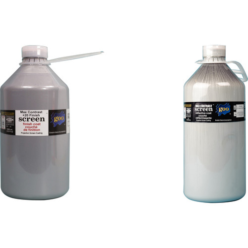 Goo Systems Max Contrast +20 Screen Goo Set (Pair of 0.5 Gal Bottles)