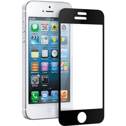Good Gadget Clear Glass Guard Screen Protector for iPhone 5/5s (Black)