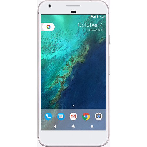 Google Pixel G-2PW4100 128GB Smartphone (Unlocked, Very Silver)